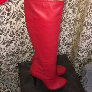 Red butter soft leather boots